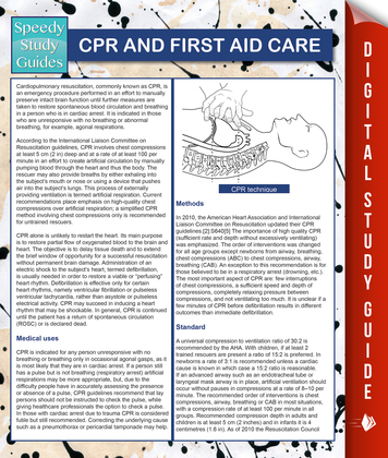 CPR And First Aid Care (Speedy Study Guides)