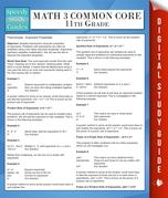 Math 3 Common Core 11th Grade (Speedy Study Guides)