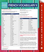 French Vocabulary II (Speedy Language Study Guides)