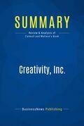 Summary: Creativity, Inc.