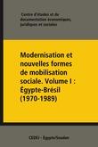 Modernisation et nouvelles formes de mobilisation sociale. VolumeI: Égypte-Brésil (1970-1989)