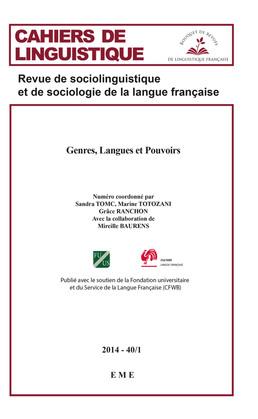 Genres, Langues et Pouvoirs