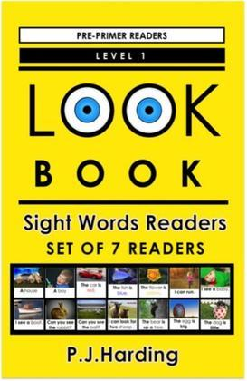 LOOK BOOK Sight Words Readers Set 1: Level 1 Pre-primer