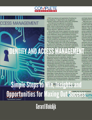 Identity and Access Management - Simple Steps to Win, Insights and Opportunities for Maxing Out Success