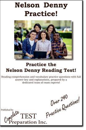 Nelson Denny Practice! : Nelson Denny Practice Test Questions