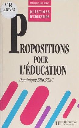Propositions pour l'éducation