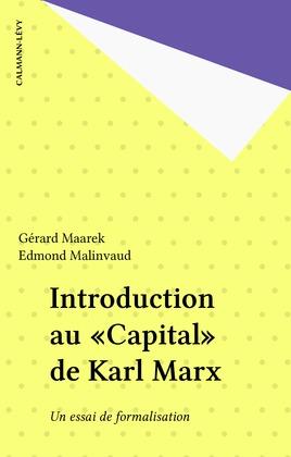 Introduction au «Capital» de Karl Marx