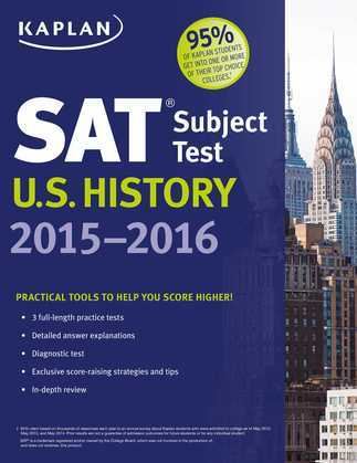 Kaplan SAT Subject Test U.S. History 2015-2016