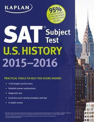 Kaplan SAT Subject Test U.S. History 2015-2016