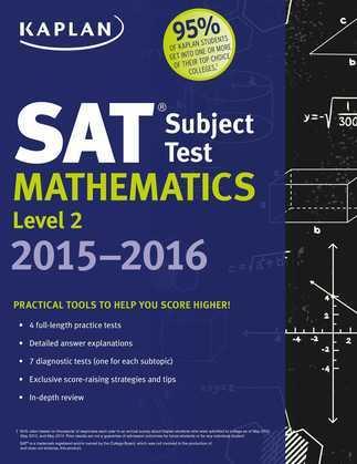 Kaplan SAT Subject Test Mathematics Level 2 2015-2016