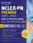 NCLEX-PN Premier 2015-2016 with 2 Practice Tests
