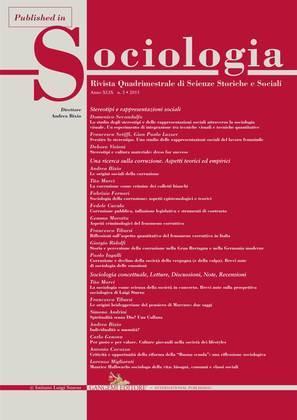 Sociologia della corruzione: aspetti epistemologici e teorici
