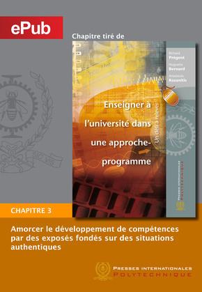 Amorcer le développement de compétences par des exposés fondés sur des situations authentiques (Chapitre)