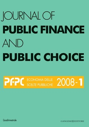 Journal of public Finance and Public Choice n.1/2008