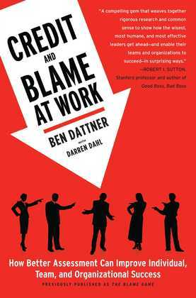 Credit and Blame at Work