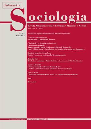 Scienza, scienziati e utopia nel Terzo Reich. Una breve introduzione a un problema storico-sociologico
