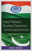 India-Pakistan Nuclear Diplomacy
