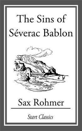 The Sins of Séverac Bablon