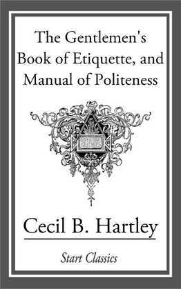 The Gentlemen's Book of Etiquette, an