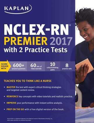 NCLEX-RN Premier 2017 with 2 Practice Tests