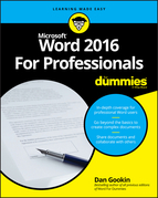 Word 2016 For Professionals For Dummies