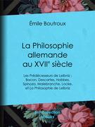 La Philosophie allemande au XVIIe siècle