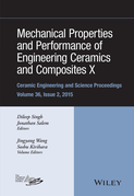 Mechanical Properties and Performance of Engineering Ceramics and Composites X