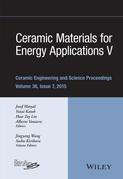 Ceramic Materials for Energy Applications V