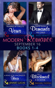 Modern Romance September 2016 Books 1-4 (Mills & Boon e-Book Collections)