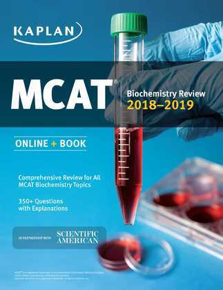MCAT Biochemistry Review 2018-2019: Online + Book