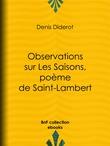 Observations sur Les Saisons, poème de Saint-Lambert