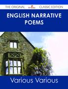 English Narrative Poems - The Original Classic Edition