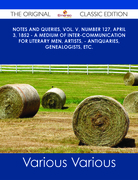 Notes and Queries, Vol. V, Number 127, April 3, 1852 - A Medium of Inter-communication for Literary Men, Artists, - Antiquaries, Genealogists, etc. - The Original Classic Edition