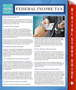 Federal Income Tax (Speedy Study Guides)