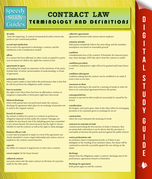 Contract Law Terminology and Definitions (Speedy Study Guide)