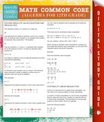 Math Common Core (Algebra for 12th Grade) (Speedy Study Guides)
