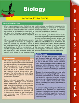 Biology: Biology Study Guide