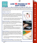 Lose 10 Pounds In 10 Days Guide (Speedy Study Guide)