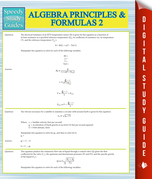Algebra Principles And Formulas 2 (Speedy Study Guides)