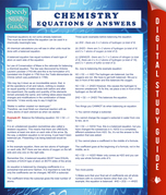 Chemistry Equations & Answers (Speedy Study Guide)