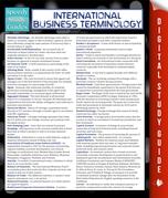 International Business Terminology (Speedy Study Guide)