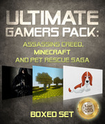 Ultimate Gamers Pack Assassins Creed, Minecraft and Pet Rescue Saga: 3 Books In 1 Boxed Set