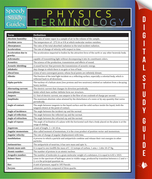 Physics Terminology: Speedy Study Guides
