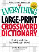 The Everything Large-Print Crossword Dictionary