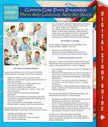 Common Core State Standards: Math And Language Arts 3rd Grade: (Speedy Study Guides)