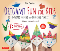 Origami Fun for Kids Kit: 20 Fantastic Folding and Coloring Projects (paper, book & DVD)