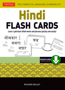 Hindi Flash Cards: Learn 1,500 basic Hindi words and phrases quickly and easily! (Downloadable Audio Included)