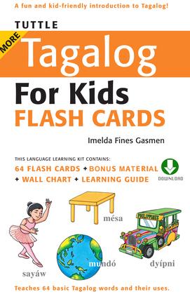 Tuttle More Tagalog for Kids Flash Cards