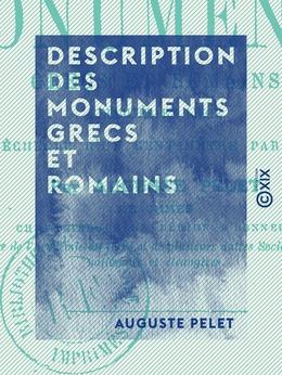 Description des monuments grecs et romains