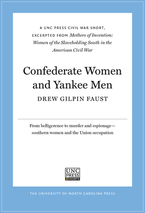 Confederate Women and Yankee Men